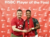 South Africa's Angelo Davids is HSBC Player of the Final on day two of the HSBC World Rugby Sevens Series in Singapore on 14 April, 2019. Photo credit: Mike Lee - KLC fotos for World Rugby