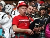 Canada fans plays the bagpipes on day one of the HSBC World Rugby Sevens Series in Vancouver on 9 March, 2019. Photo credit: Mike Lee - KLC fotos for World Rugby