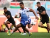 Samoa's Alamanda Motuga breaks through the New Zealand defense on day one of the HSBC World Rugby Sevens Series in Las Vegas on 1 March, 2019. Photo credit: Mike Lee - KLC fotos for World Rugby