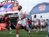 USA's Maceo Terrel Brown runs onto the field before the game against Kenya on day one of the HSBC World Rugby Sevens Series in Las Vegas on 1 March, 2019. Photo credit: Mike Lee - KLC fotos for World Rugby