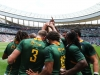 South Africa team huddle after the win over Fiji on day two of the HSBC Cape Town Sevens 2019 men's competition on 14 December, 2019. Photo credit: Mike Lee - KLC fotos for World Rugby