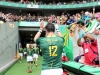 South Africa's Ruhan Nel thanks the fans after the win over Fiji on day two of the HSBC Cape Town Sevens 2019 men's competition on 14 December, 2019. Photo credit: Mike Lee - KLC fotos for World Rugby