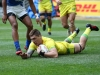 Australia's Sean McMahon scores a try against Samoa on day two of the HSBC Cape Town Sevens 2019 men's competition on 14 December, 2019. Photo credit: Mike Lee - KLC fotos for World Rugby