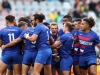 France team huddle before the game against England on day two of the HSBC Cape Town Sevens 2019 men's competition on 14 December, 2019. Photo credit: Mike Lee - KLC fotos for World Rugby