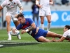 France captain Jean Pascal Barraque dives in a try against England on day two of the HSBC Cape Town Sevens 2019 men's competition on 14 December, 2019. Photo credit: Mike Lee - KLC fotos for World Rugby