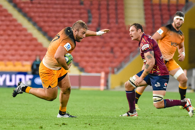 during the Super Rugby Round 16 match between Queensland Reds and the the Jaguares at Suncorp Stadium on June 1, 2019 in Brisbane, Queensland, Australia. (Photo by Stephen Tremain)