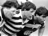 08022011 sport Photo JOHN SELKIRK/auckland bureau. The all black front row during practice 3 days before the rugby World cup final in 1987. From left John Drake, Sean Fitzpatrick and Steve McDowell