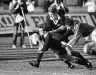 David Kirk dives to score a try in the 1987 RWC Final at Eden Park v France. I support is John Kirwan. Photo, John Selkirk