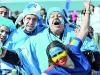 Hugo Montiel y Barra en el Mundial de NZ 2011 alentando a Los Pumas - Foto: Diario Clarin - Enviada por el mismo.