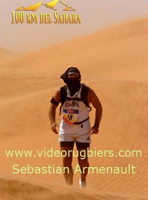 Sebastian Armenault en la marathon de los 100 km en el Sahara