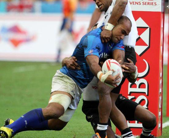 Samoa se dio el gusto y derroto a Fiji en el arranque del primer dia en Singapur 7s - Foto: WR