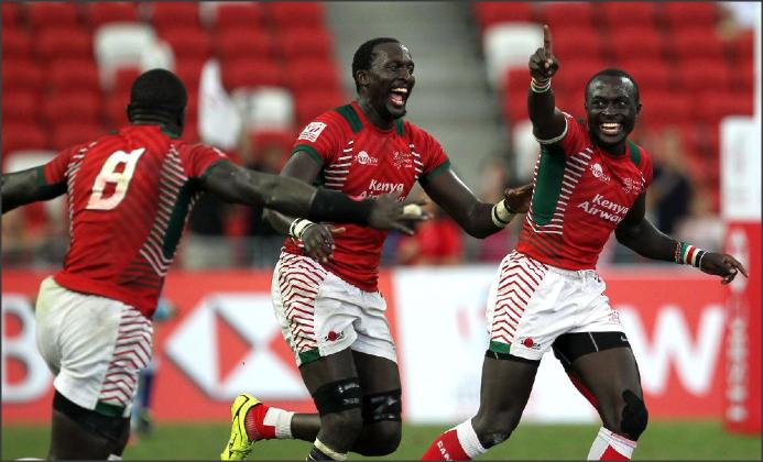 Kenya gano su primer titulo en Singapur 7s luego de vencer a Fiji en la final - Foto: Martin Seras Lima